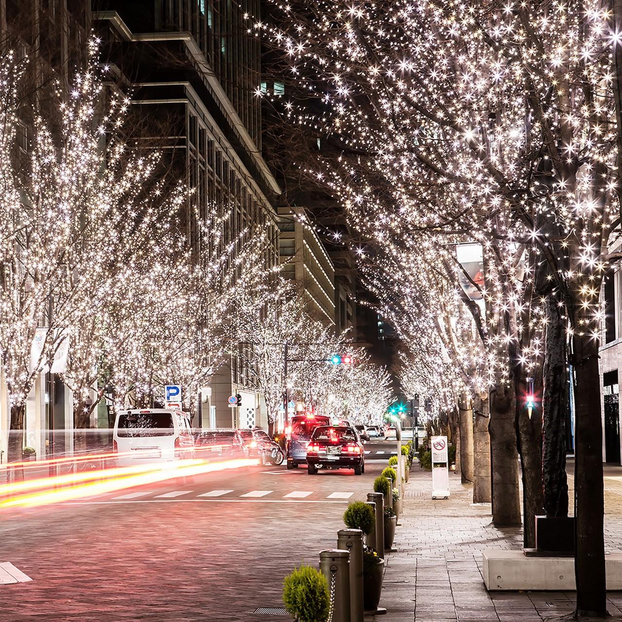 новогодняя улица картинки положить